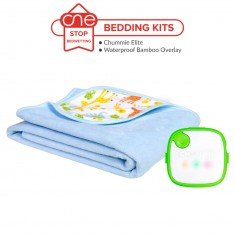 Chummie Elite Bedding Kit in Green - Bamboo Overlay - One Stop Bedwetting