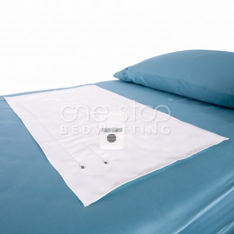 Boost_bedwetting_alarm_on_bed_mat_One_Stop_Bedwetting