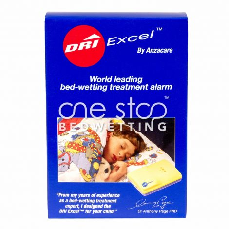 Dri Excel Bedwetting Alarm - Box Front - One Stop Bedwetting