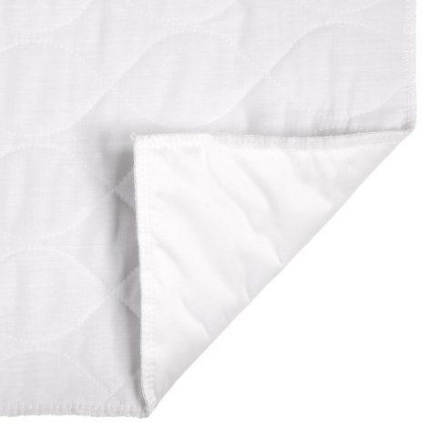 Waterproof bedding underside view