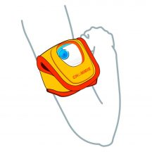 Comfy Armband with vector images of arm and chummie elite