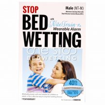Nite Train'r Bedwetting Alarm - Box Front, Male - One Stop Bedwetting