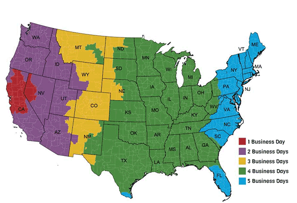 Bedwetting Alarm Shipping Map